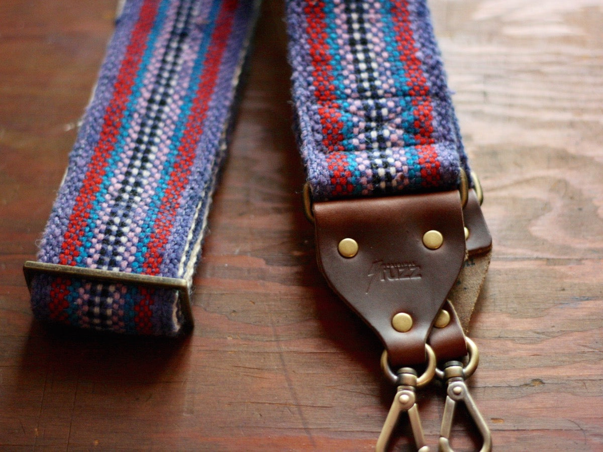 The Peruvian Camera Strap in Purple Stripes