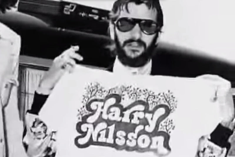Ringo Starr with a Harry Nilsson t-shirt