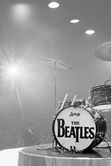 Ringo's drum kit on stage in 1964