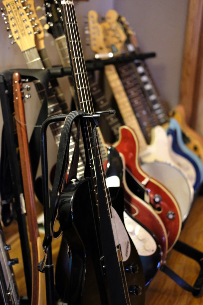 Roger Moutenot's guitar collection at Haptown Studio in Nashville