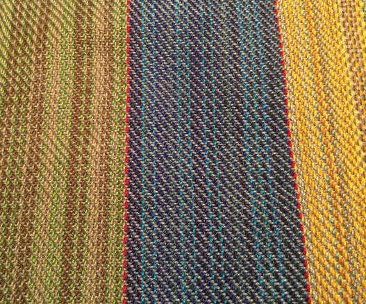 Detail of these custom handwoven fabrics