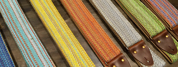 The Savannah guitar strap comes in a variety of pyschedelic colors