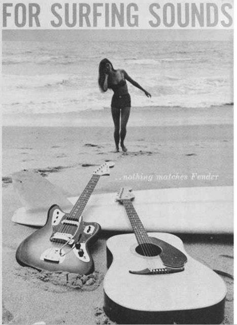 Fender surfing sounds ad