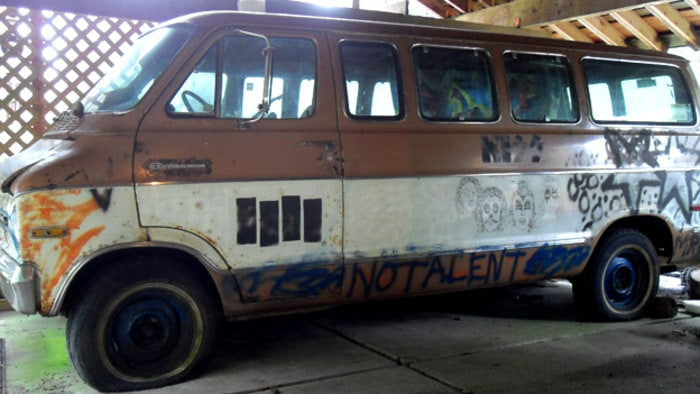 The Melvan, the Melvins first tour van