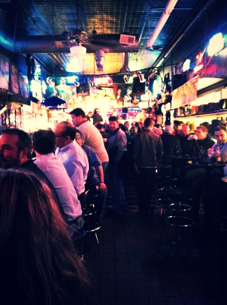The view at the downstairs bar of Robert's Western World
