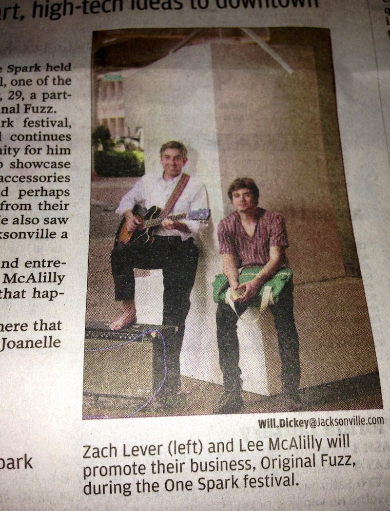 Photo of Zach Lever and Lee McAlilly on the front page of the Florida Times-Union