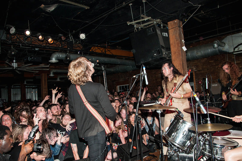 Ty Segall and Mikal Cronin at the Mercy Lounge in Nashville with a Fuzz Strap Photo 6 of 13 by Amber Davis