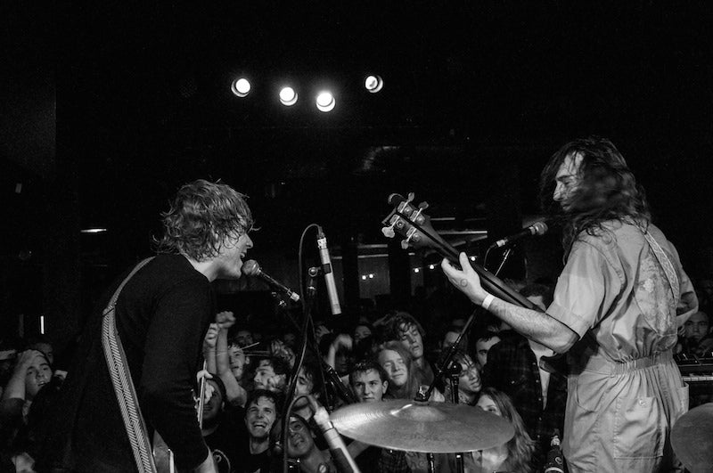 Ty Segall and Mikal Cronin at the Mercy Lounge in Nashville with a Fuzz Strap Photo 12 of 13 by Amber Davis