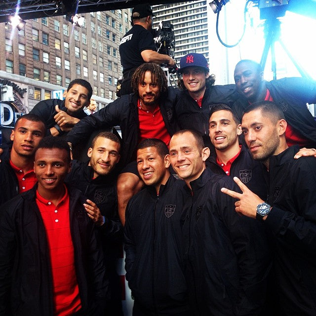 The US World Cup Team in Times Square