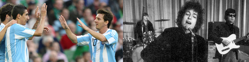 Messi with Argentina and Bob Dylan with Robbie Robertson