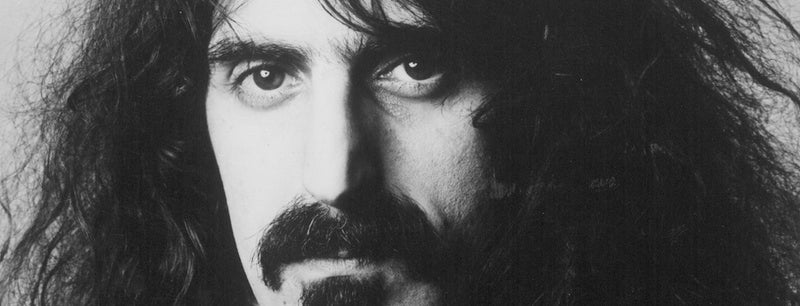 Close up portrait of Frank Zappa
