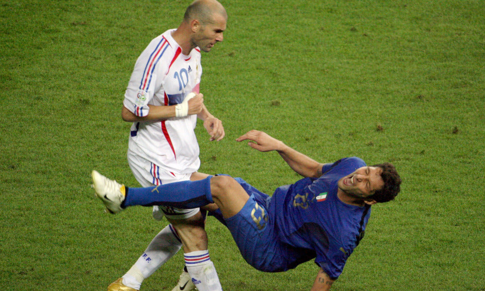 Zidane's famous head butt in the 1998 World Cup Final