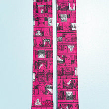 hot pink Heavy Meta album art silkscreen artist series Ron gallo vintage style camera strap by original fuzz