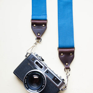 Canvas Camera Strap in Blue Collar Product detail photo 0