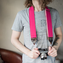 Canvas Camera Strap in Hot Pink