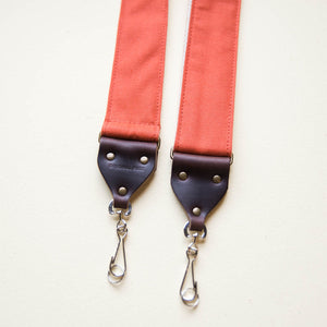 Canvas Camera Strap in Paprika Product detail photo 2
