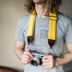 Canvas Camera Strap in Yellow Product detail photo 2