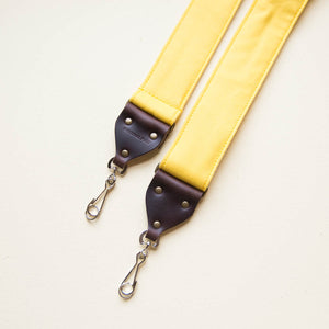 Canvas Camera Strap in Yellow Product detail photo 3