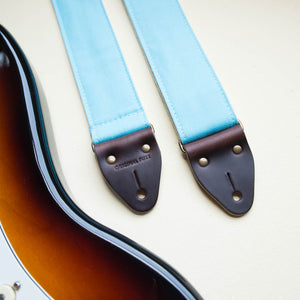 Canvas Guitar Strap in Arctic Blue Product detail photo 2