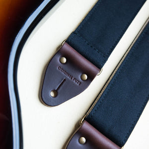 Canvas Guitar Strap in Black Product detail photo 1