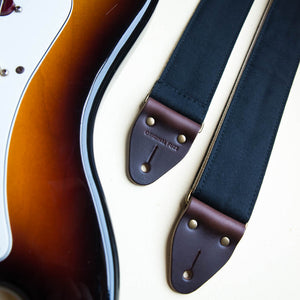 Canvas Guitar Strap in Black Product detail photo 3