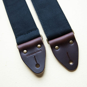 Canvas Guitar Strap in Black Product detail photo 2