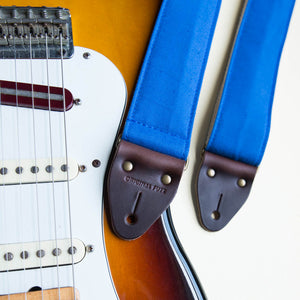 Canvas Guitar Strap in Blue Product detail photo 1