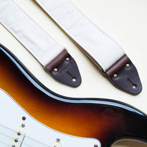 Canvas Guitar Strap in Cream Product detail photo 3