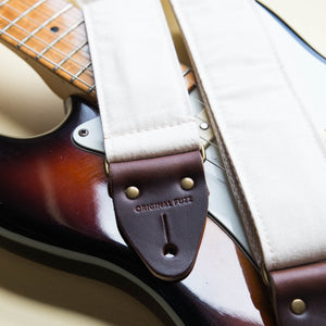 Canvas Guitar Strap in Cream Product detail photo 0