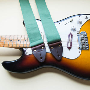Canvas Guitar Strap in Green Product detail photo 0