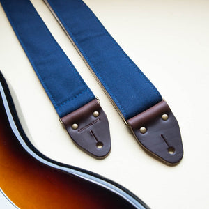 Canvas Guitar Strap in Navy Product detail photo 0