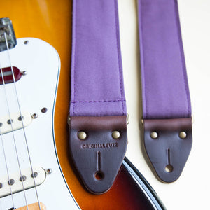 Canvas Guitar Strap in Plum Product detail photo 1