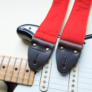 Canvas Guitar Strap in Red Product detail photo 2