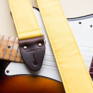 Canvas Guitar Strap in Yellow Product detail photo 2