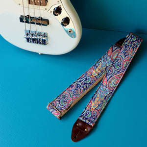 Paisley Guitar Strap in Fatherland Product detail photo 4