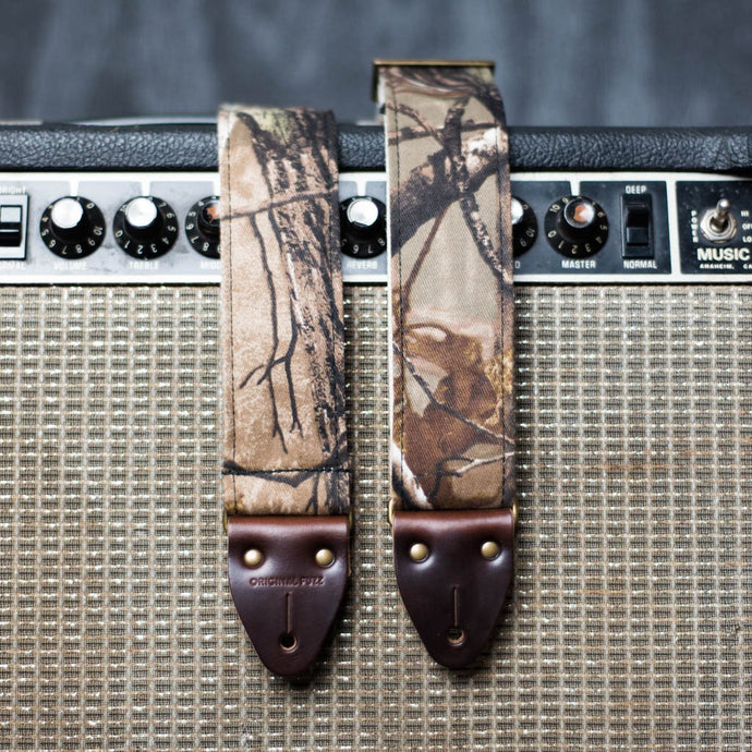 camo camouflage reclaimed guitar strap by original fuzz