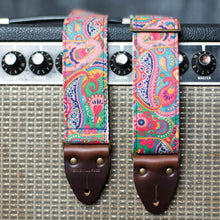 pink paisley guitar strap from the Nashville collection by Original Fuzz