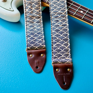 Japanese printed cotton handmade guitar strap from Nashville.