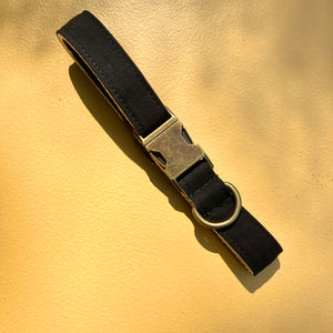Large Canvas Dog Collar in Black Product detail photo 0