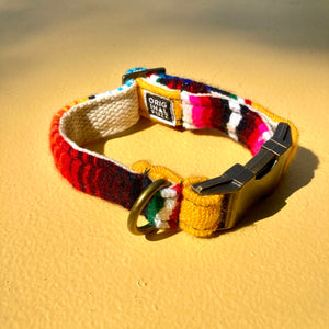 Small Serape Dog Collar in Yellow Serape