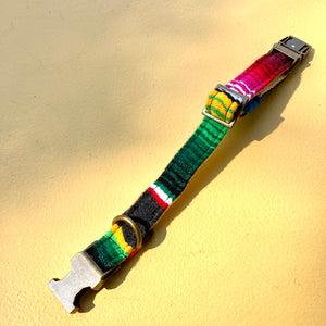 Small Serape Dog Collar in Dark Gray Serape Product detail photo 0