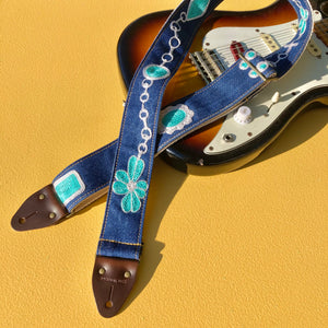 Chain Stitch Guitar Strap in Rosary Product detail photo 0