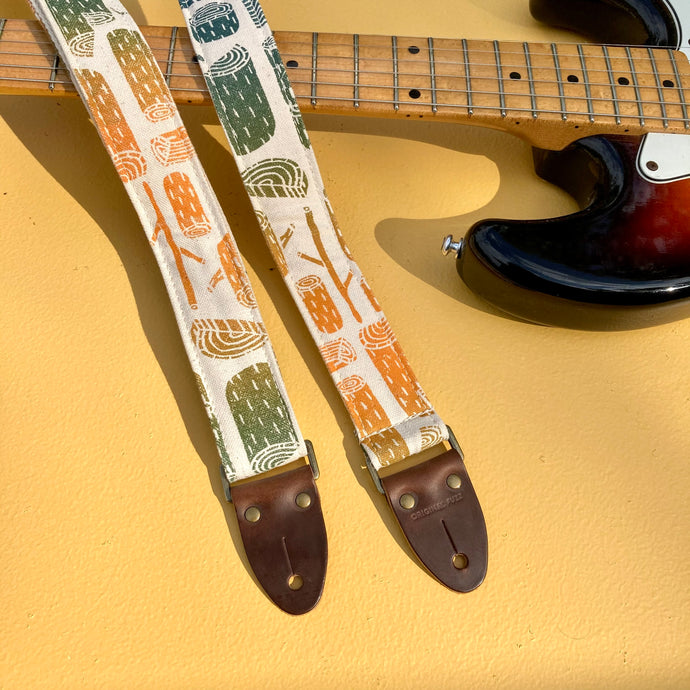 Silkscreen Skinny Guitar Strap in Stumps