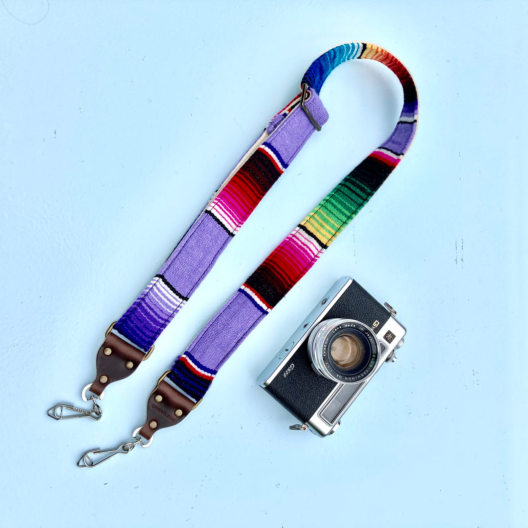 Skinny Serape Camera Strap in Prickly Pear