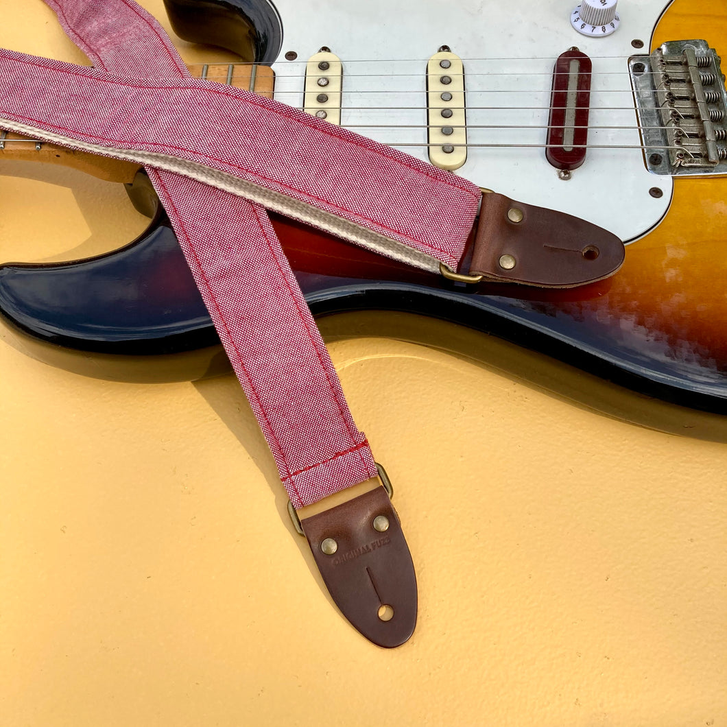 Reclaimed Skinny Guitar Strap in Cannon Street