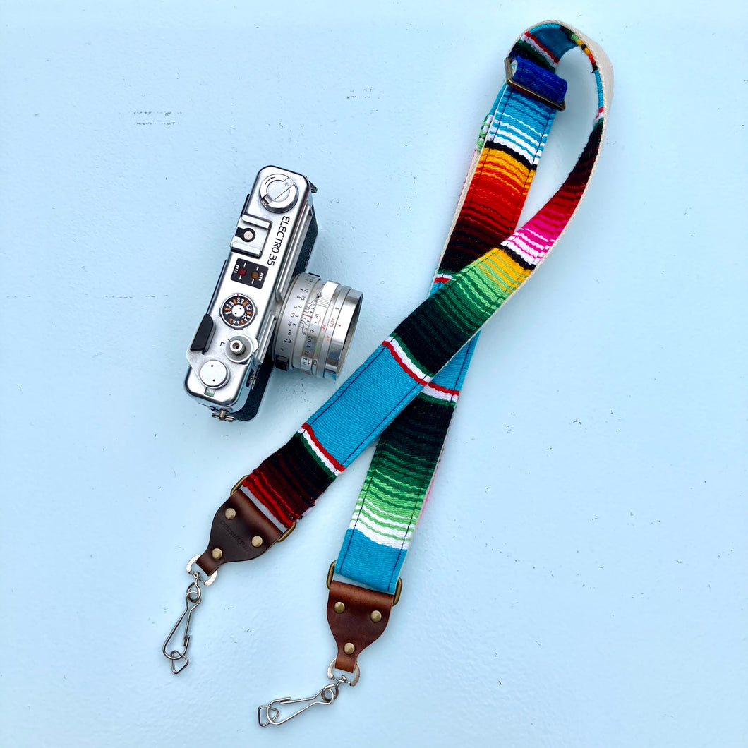 Skinny Serape Camera Strap in Desmachine