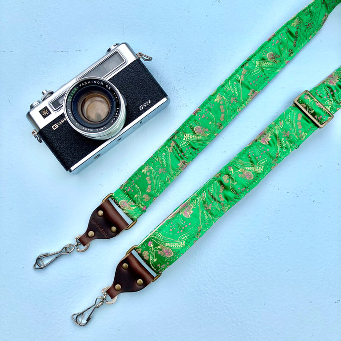 Skinny Paisley Camera Strap in Eugenia