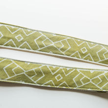 Natural lime green Indian block print guitar strap by Original Fuzz.