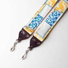vintage camera strap made with 70s reclaimed polyester by Original Fuzz.