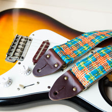 70s plaid polyester guitar strap 4